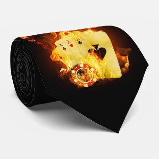 Burning Poker Cards Tie