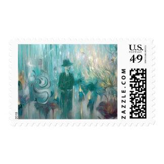 Burning Postage Stamp