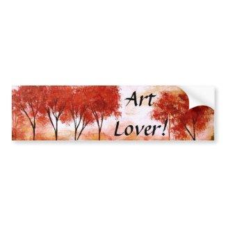 Burning Promise Art Lover Bumper Sticker From Art bumpersticker