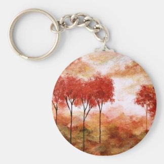 Burning Promise Keychain Round Pendant Painting