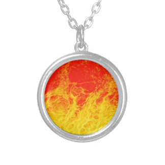 Burning red and yellow fire pendant