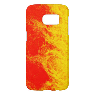 Burning red and yellow fire samsung galaxy s7 case