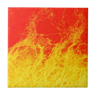 Burning red and yellow fire tile