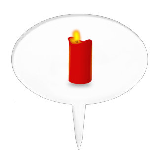 Burning Red Candle Cake Topper