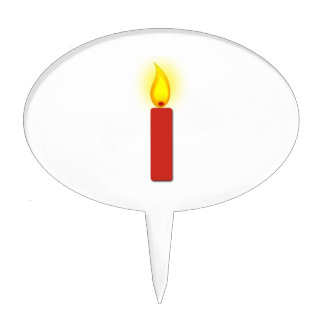 Burning Red Candle Cake Toppers