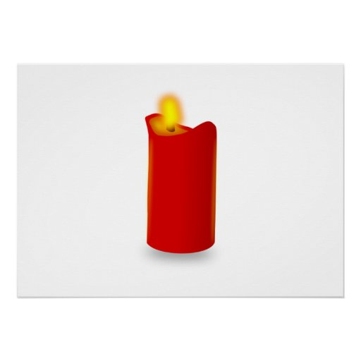 Burning Red Candle Poster