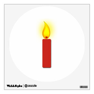 Burning Red Candle Wall Sticker