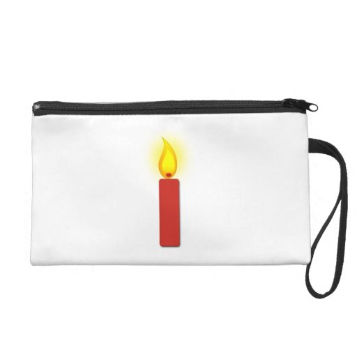 Burning Red Candle Wristlet Purses