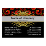 Burning Red Magma Waves Big Paper Cut Out Large Business Cards (Pack Of 100)