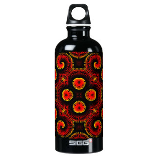 Burning Red Magma Waves Big Paper Cut Out SIGG Traveler 0.6L Water Bottle