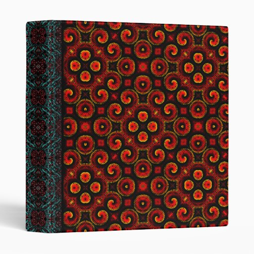 Burning Red Magma Waves Small Paper Cut Out Vinyl Binder