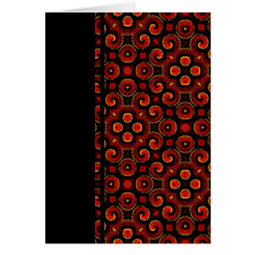 Burning Red Magma Waves Small Paper Cut Out Greeting Cards