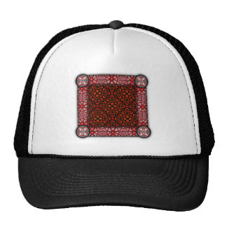Burning Red Magma Waves Small Paper Cut Out Hats