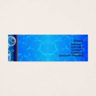 Burning Red Magma Waves Small Paper Cut Out Mini Business Card