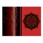 Burning Red Magma Waves Small Paper Cut Out Post Card