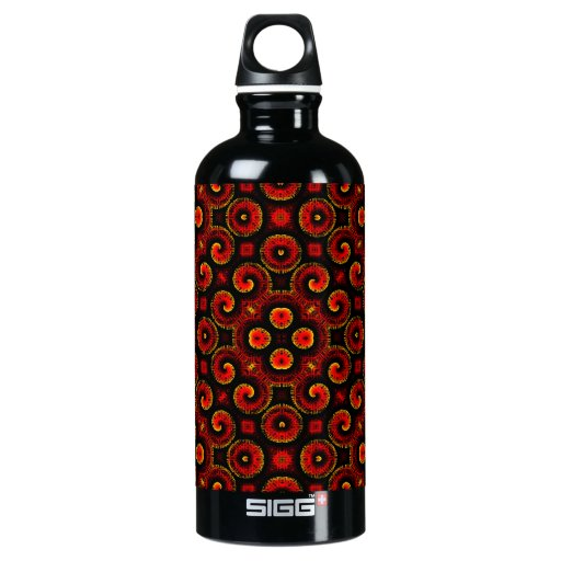 Burning Red Magma Waves Small Paper Cut Out SIGG Traveler 0.6L Water Bottle