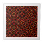 Burning Red Magma Waves Small Paper Cut Out Tile