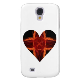 Burning Red Tic Tac Toe Fractal Art Heart Samsung Galaxy S4 Case