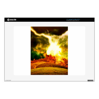 Burning Rock Abstraction Decal For Laptop