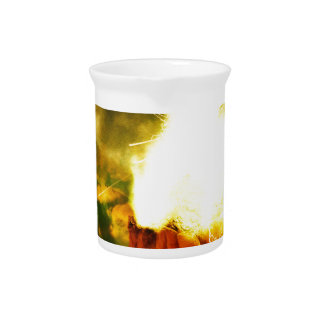 Burning Rock Abstraction Drink Pitcher
