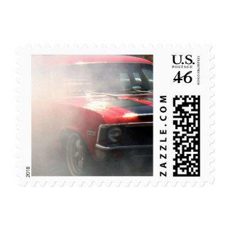 Burning Rubber Stamp