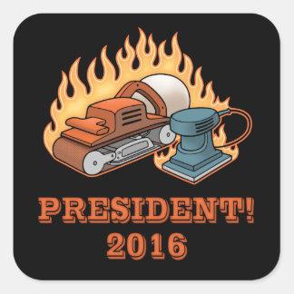 Burning Sanders Square Sticker