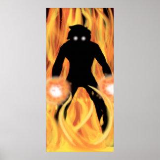 Burning shadow   TAOFEWA manga comic frame Poster