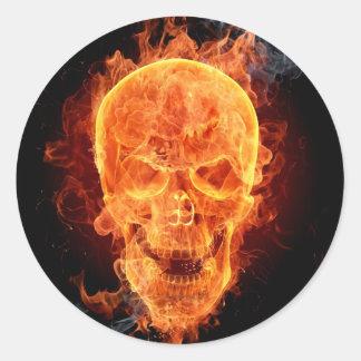 Burning Skeleton Sticker