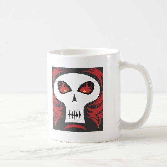Burning Skull Coffee Mug