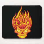 Burning Skull Mousepads