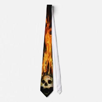Burning Skull Tie