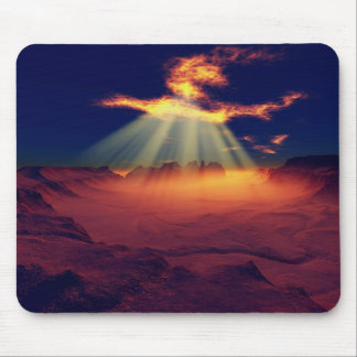 Burning Sky Mouse Pad