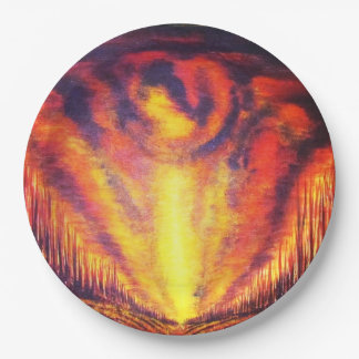 Burning Sky 9 Inch Paper Plate