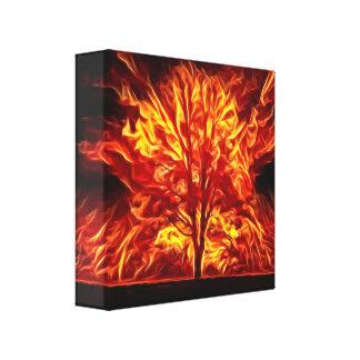 Burning Solo Canvas Print