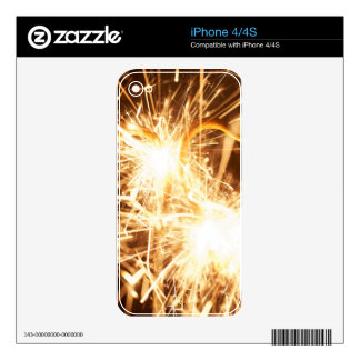 Burning sparkler in form of a heart decal for the iPhone 4S