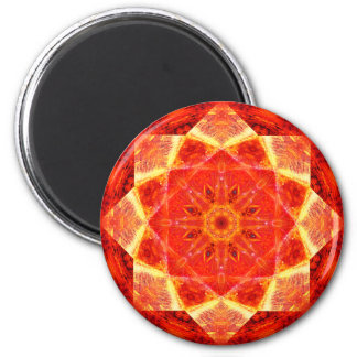 Burning Stars Mandala Magnet