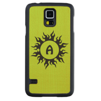 Burning Sun Carved Maple Galaxy S5 Case
