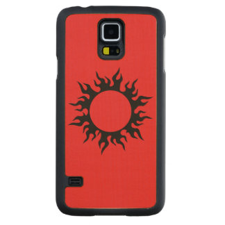 Burning Sun Carved Maple Galaxy S5 Slim Case