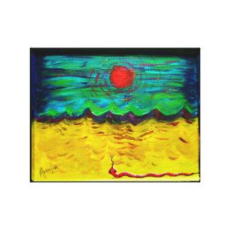 Burning Sun, Desert Snake Gallery Wrap Canvas