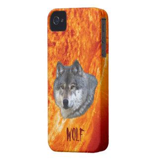 Burning Sun & Grey Wolf Blackberry Case