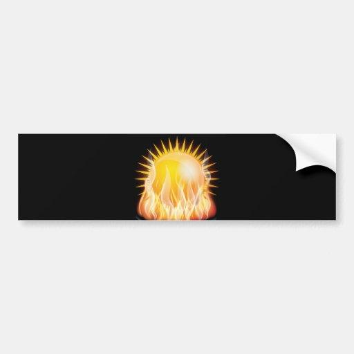 BURNING SUN VECTOR HOT TATTOO GRAPHICS TOUGH BUMPER STICKERS