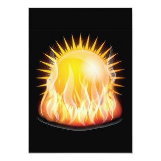 BURNING SUN VECTOR HOT TATTOO GRAPHICS TOUGH CARD