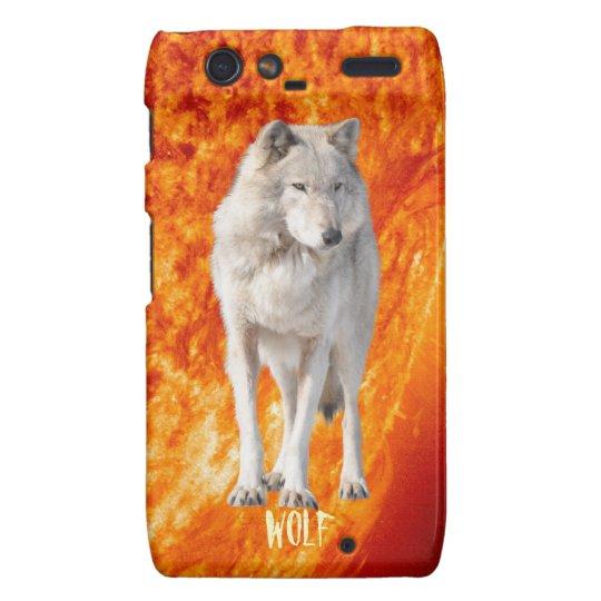 Burning Sun & White Gray Wolf Motorola Razr Case