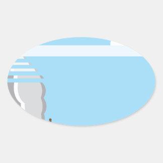 Burning Tank Oval Sticker