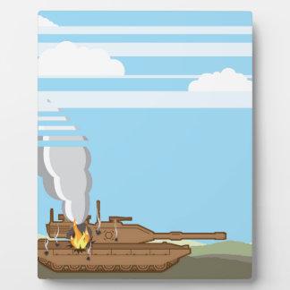 Burning Tank Plaque