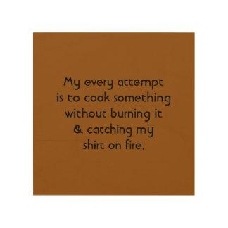 'Burning the Grub' Wood Print