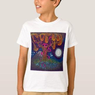Burning Tree with Moon and Ribbon T-Shirt