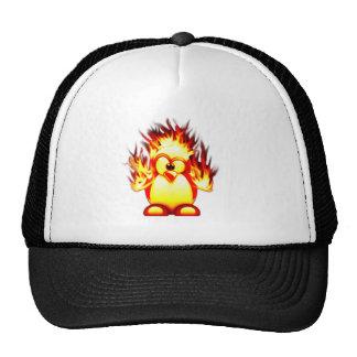 burning tux mesh hat