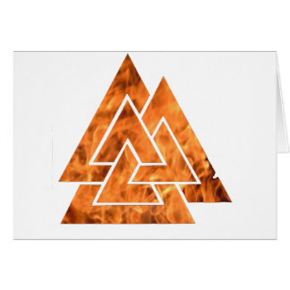 Burning Valknut Card