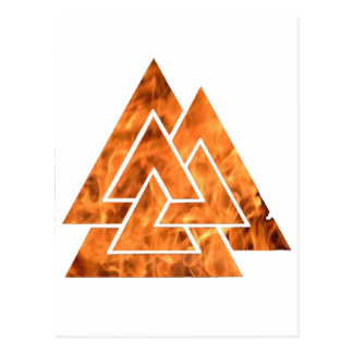 Burning Valknut Postcard